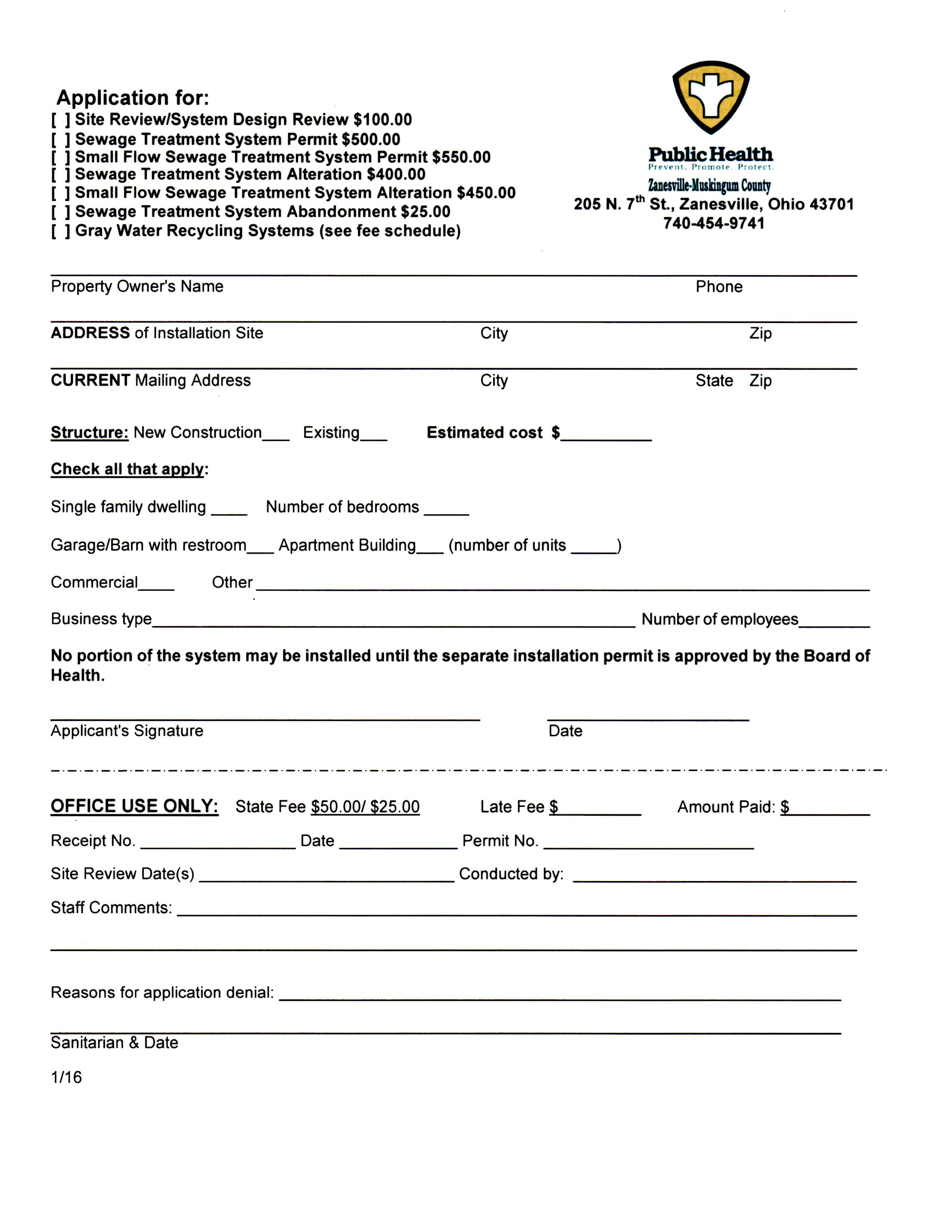 Forms Resources Zanesville Muskingum County Health Department